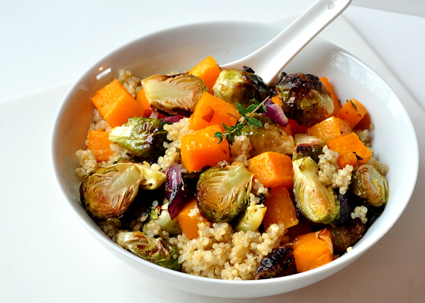 Hot Roasted Vegetables With Couscous