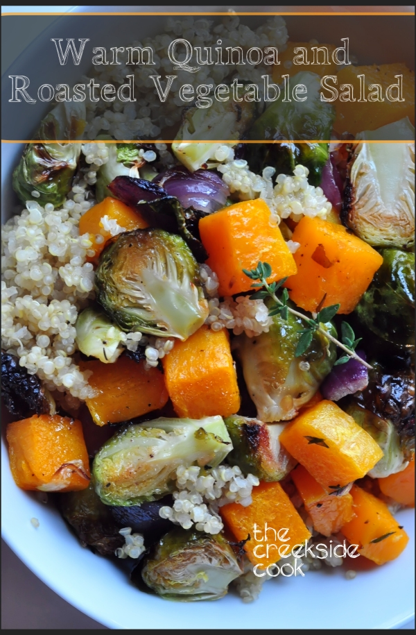Warm Quinoa and Roasted Vegetable Salad on The Creekside Cook