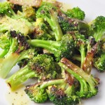 Caramelized Broccoli with Roasted Garlic Vinaigrette