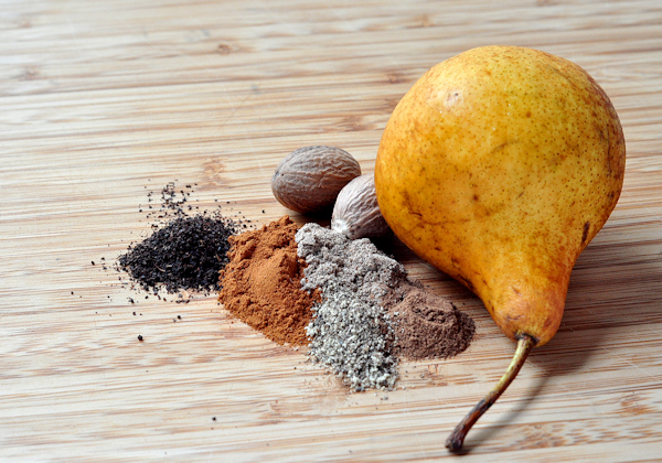 bosc pear and chai spices