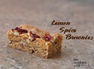 lemon spice brownies