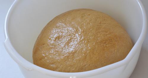 anadama bread ready to rise