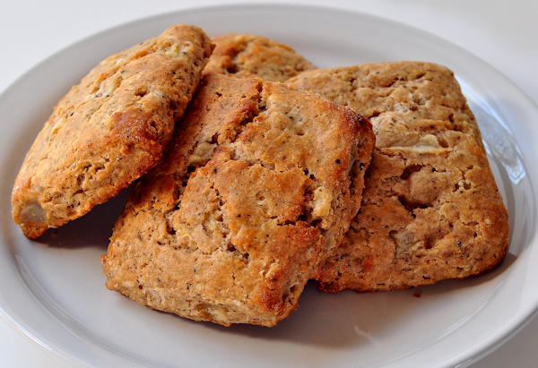 plate of chai pear scones
