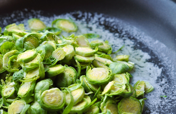 sauteeing brussels sprouts