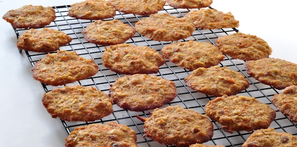 cooling chewy carrot cookies