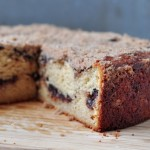 cut cinnamon chocolate chip coffee cake