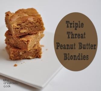 triple threat peanut butter blondies