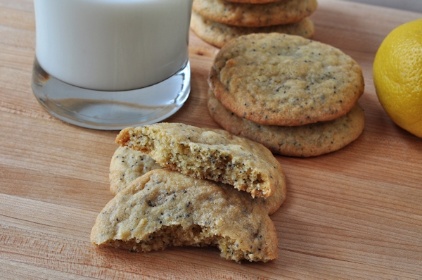 Milk and Chewy Lemon Poppy Seed Cookies
