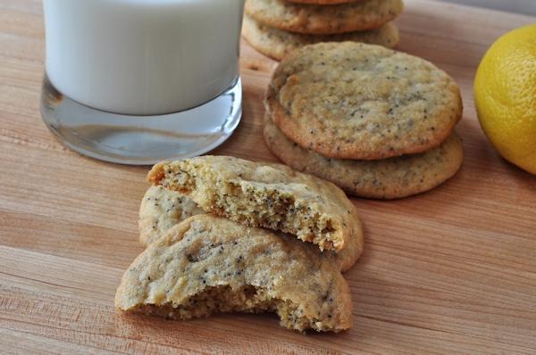 Milk and Chewy Lemon Poppy Seed Cookies