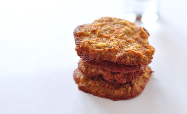 stacked chewy carrot cookies