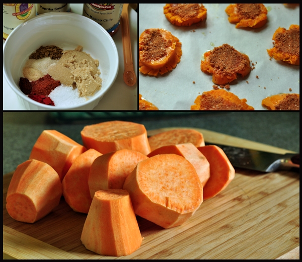 ingredients for crash hot sweet potatoes