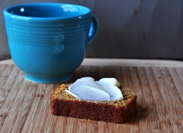 buttered sweet potato quick bread