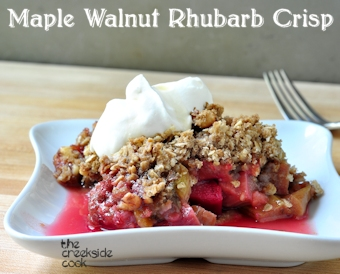 maple walnut rhubarb crisp