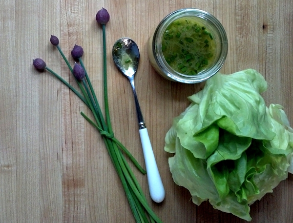 chive lemon vinaigrette with butter lettuce
