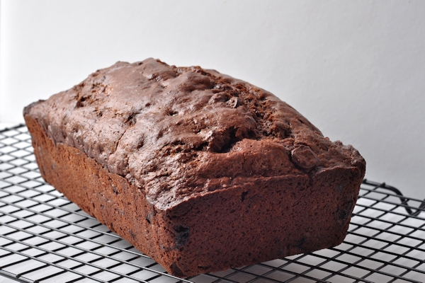 loaf of dobule chocolate banana bread