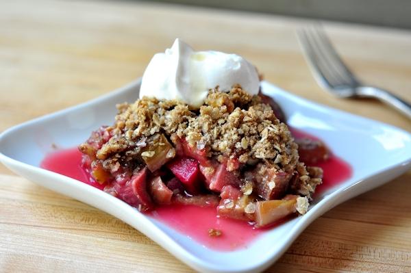 Maple Walnut Rhubarb CrispThe Creekside Cook
