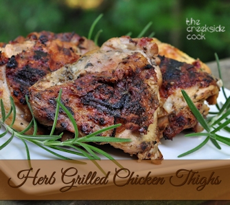 header for herb grilled chicken thighs