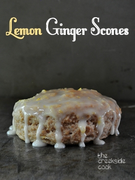 whole wheat lemon ginger scones