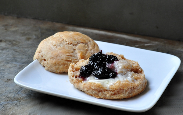 whole wheat lemon ginger scones with jam