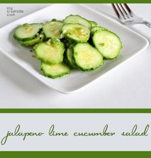 jalapeno line cucumber salad