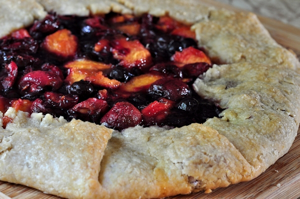 baked summer fruit galette