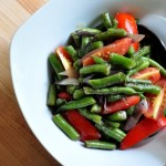 bowlof warm green bean salad