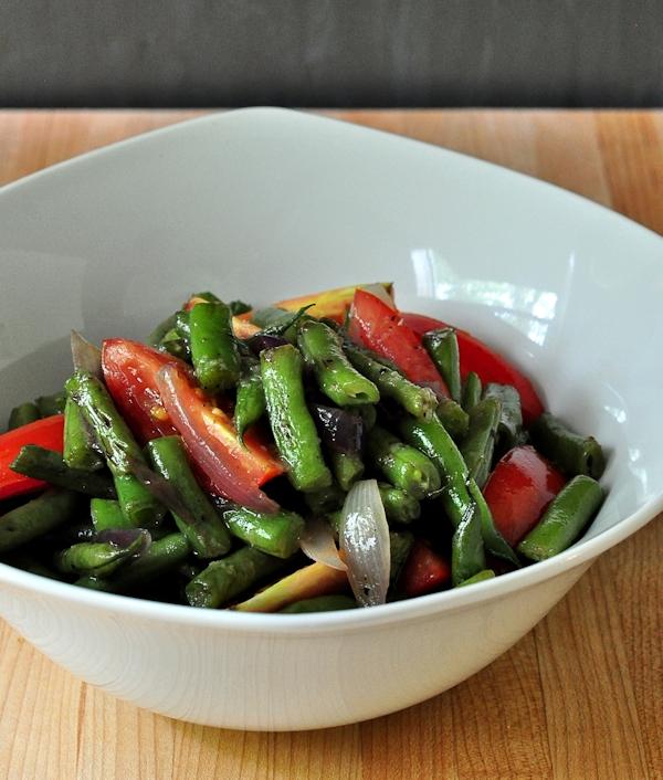 Warm Green Bean Tomato Salad - The Creekside Cook