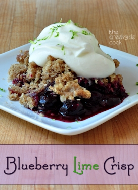 blueberry lime crisp