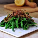 Green Beans with Crispy Leeks