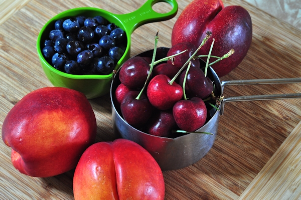 fruits for summer fruit galette