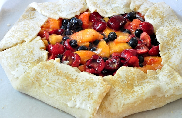unbaked summer fruit galette