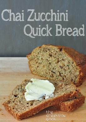 chai zucchini bread loaf