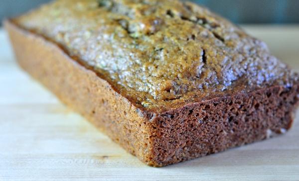 loaf of chai zucchini quick bread