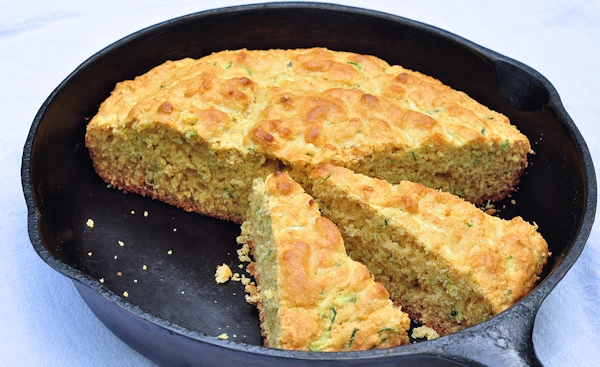 Sweet Zucchini Cornbread - The Creekside Cook