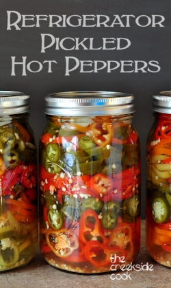 pickled hot peppers on the creekside cook