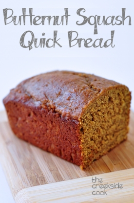 butternut squash quick bread