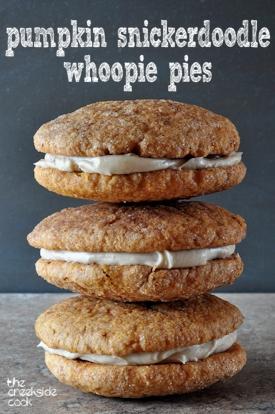 pumpkin snickerdoodle whoopie pies