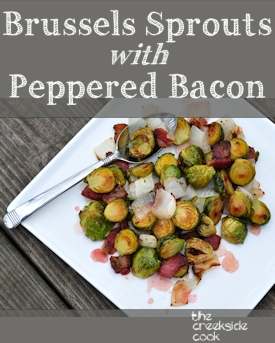 brussels sprouts with peppered bacon