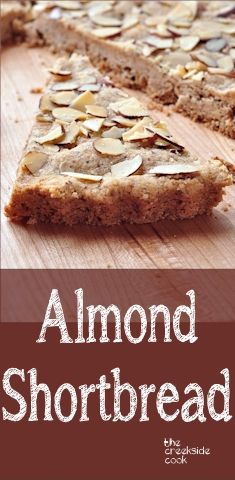 Almond Shortbread on The Creekside Cook