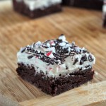 Leftover Candy Cane Brownies