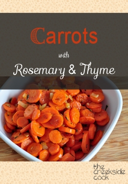 s carrots with rosemary and thyme