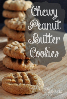 Chewy Peanut Butter Cookies on The Creekside Cook