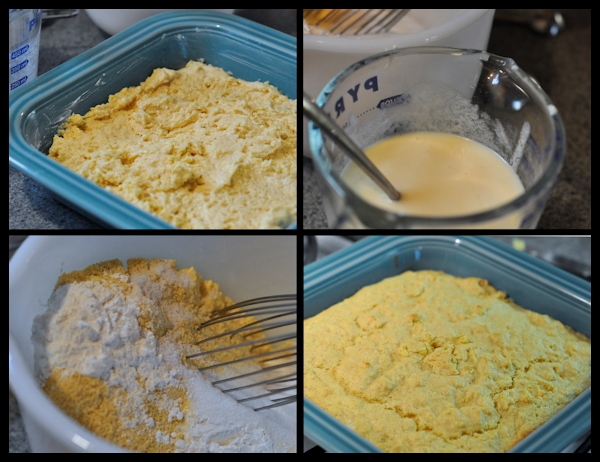 ingredients for Buttermilk Cornbread