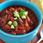 Bowl of of Chuck Steak Chili on The Creekside Cook