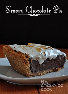 smore chocolate pie on the creekside cook