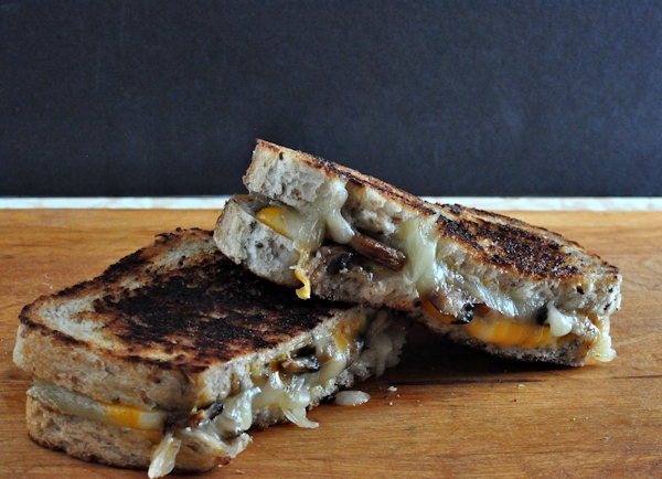 Grilled Balsamic Mushroom and Cheese Sandwiches