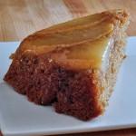 Upside Down Ginger Pear Cake
