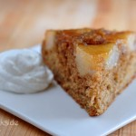 Slice of Upside Down Ginger Pear Cake