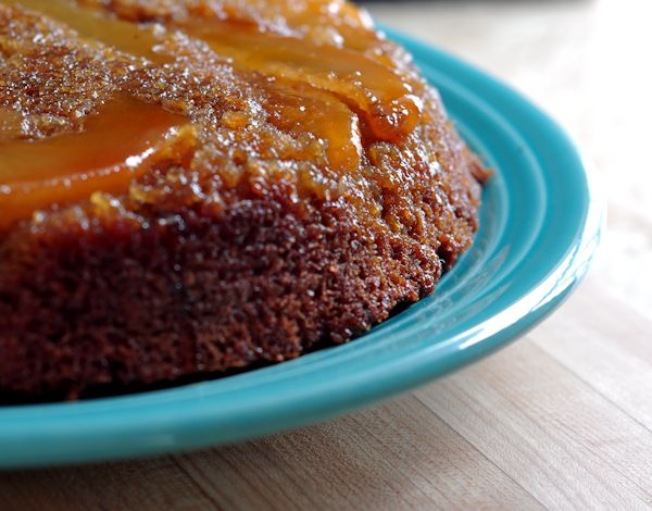 Upside Down Ginger Pear Cake