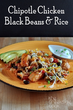 Chipotle Chicken, Black Beans and Rice on The Creekside Cook